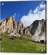 Dolomites In Badia Valley  Acrylic Print