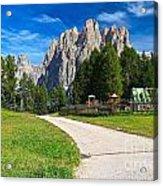Dolomiti - Gardecia With Catinaccio Mount Acrylic Print