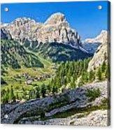 Dolomiti - High Badia Valley Acrylic Print