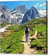 Dolomiti - Hiking In Contrin Valley Acrylic Print
