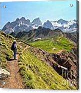 Dolomiti - Trekking In Val Ldi Fassa Acrylic Print