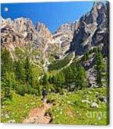 Dolomiti -landscape In Contrin Valley Acrylic Print