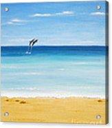 Dolphin Beach Acrylic Print