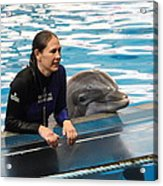 Dolphin Show - National Aquarium In Baltimore Md - 1212230 Acrylic Print