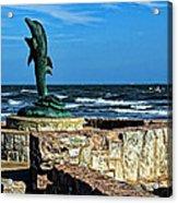 Dolphin Statue Acrylic Print