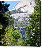 Dome Next To Half Dome Seen From Yosemite Valley-2013 Acrylic Print