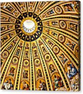 Dome Of St Peter's Basilica Vatican City Italy Acrylic Print