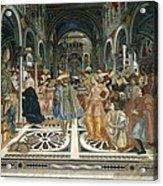 Domenico Di Bartolo 1400-1447. Pope Acrylic Print