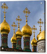 Domes Of The Church Of The Nativity Of Moscow Kremlin - Featured 3 Acrylic Print