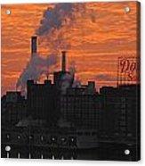 Domino Sugars Sunrise Acrylic Print