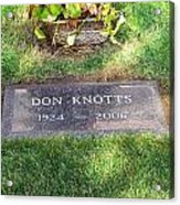 Don Knotts Grave Acrylic Print