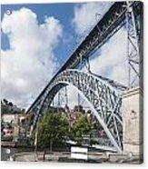 Don Luis Bridge In Oporto Acrylic Print