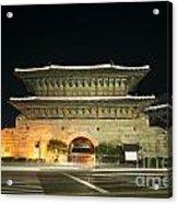 Dongdaemun Gate Landmark In Seoul South Korea Acrylic Print