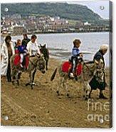 Donkey Ride Gb 1980s Acrylic Print by David Davies