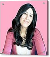 Donna In Pink Acrylic Print