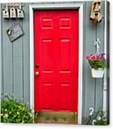 Donna's Red Friendship Door Acrylic Print
