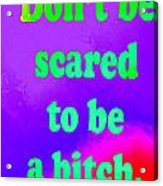 Don't Be Scared Acrylic Print