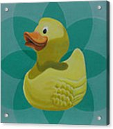 Don't Give A Rubber Duck Acrylic Print