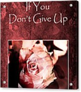 Don't Give Up Acrylic Print by Randi Grace Nilsberg