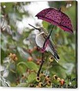 Don't Let It Rain On My Tree Acrylic Print