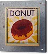 Donut Wood Block Acrylic Print
