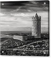 Doonagore Castle Black And White Acrylic Print