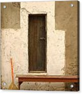 Door And Broomstick Acrylic Print by Micah May