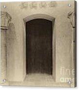 Door And Pillars  B And W Acrylic Print