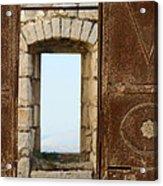 Door And Window Of The Old World Acrylic Print