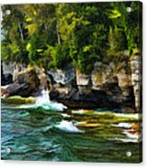 Door County Cave Point Cliffs Acrylic Print