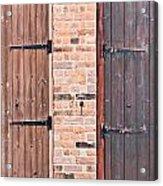 Door Hinges Acrylic Print by Tom Gowanlock
