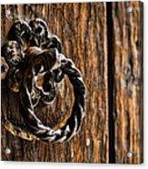 Door Knocker Acrylic Print by Heather Applegate