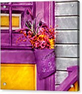 Door - Lavender Acrylic Print by Mike Savad