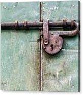 Door Lock Acrylic Print