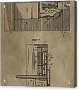 Door Lock Patent Acrylic Print