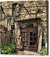 Door Montepulciano Italy Acrylic Print