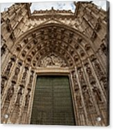 Door Of Assumption Of The Seville Cathedral Acrylic Print