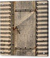 Door On An Old Metal Silo Acrylic Print