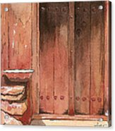 Door Series - Door 11 - Village Of Albanayeh Near Natanz Acrylic Print