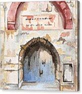 Door Series - Door 4 - Prison Of Apostle Peter Jerusalem Israel Acrylic Print