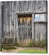 Barn Door With A Window Acrylic Print