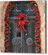 Door With Christmas Decoration  Acrylic Print