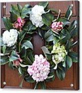 Door Wreath Acrylic Print