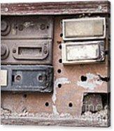 Doorbells Acrylic Print