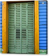 Doors And Windows Buenos Aires 14 Acrylic Print