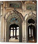 Doors And Windows - Umar Hayat Mahal Acrylic Print by Murtaza Humayun Saeed