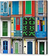 Doors New Orleans Acrylic Print by Christine Till