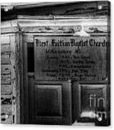 Doors Of Worship Acrylic Print