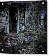 Doorway And Flowers Acrylic Print