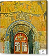 Doorway Entry To Cathedral Of The Archangel Inside Kremlin Walls In Moscow-russia Acrylic Print